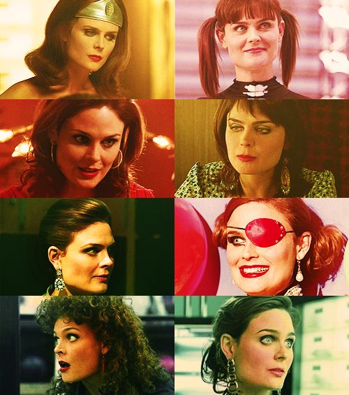 Cute, Bones in her various costumes over the seasons