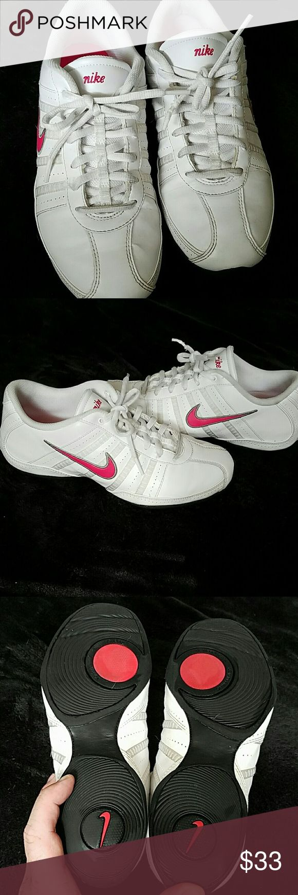 Ladies Nike sneakers White and pink ladies Nike trainers beautiful condition Nike Shoes Sneakers