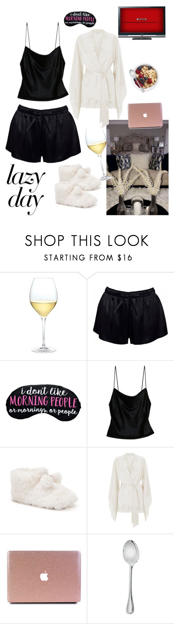 """A Date w/ My Bed"" by mikamik on Polyvore featuring Nordstrom, Fleur du Mal, SONOMA Goods for Life, La Perla, Sony and Christofle"