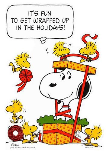 Snoopy and friends know best how to celebrate the holiday season!
