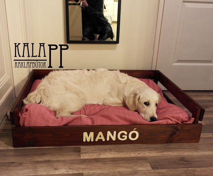 pallet dog bed for Mango / Mangónak készítettem ezt a szépséges kutyaágyat raklapból :)