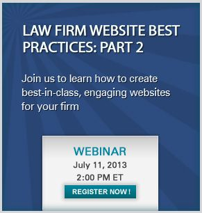 Join us to learn how to create best-in-class, engaging websites for your firm.  #lawfirms #CMS #webinars