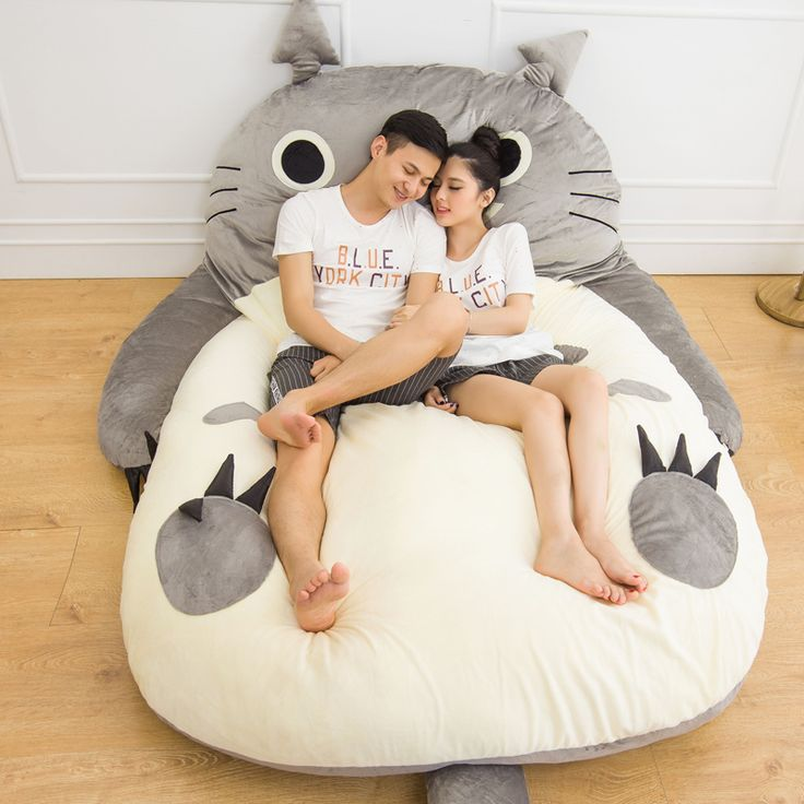 200x170cm Large matelas Totoro Double Bed Giant Totoro Bed Mattress Cushion Plush Japanese Mattress Pad Tatami Cushion Beanbag-in Mattress Cover from Home & Garden on Aliexpress.com | Alibaba Group