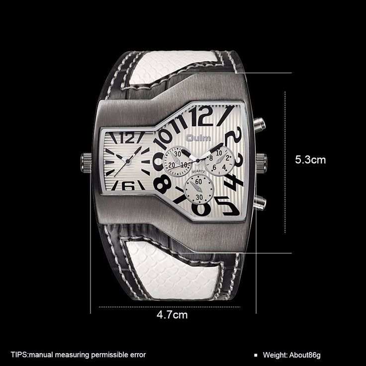 OULM Men Watch Casual Two Movements Leather Men Watch online - NewChic