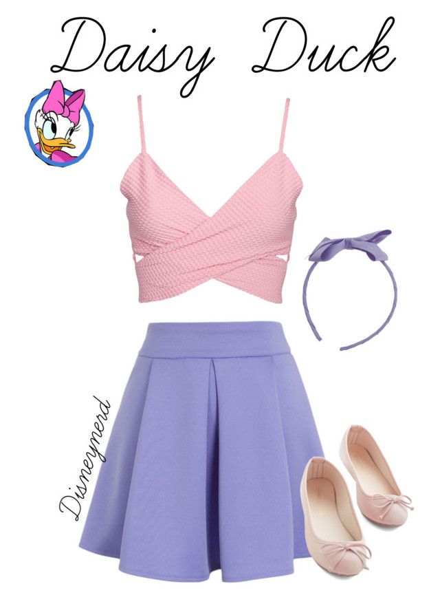"""""""Daisy Duck Disneybound"""" by kfj16 ❤ liked on Polyvore featuring Chicwish"""
