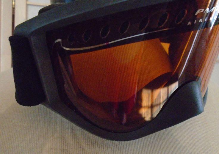 Smith Ski Snowboard Goggles PMT Airflow Black Strap Gray Amber/Orange Lens  #Smith