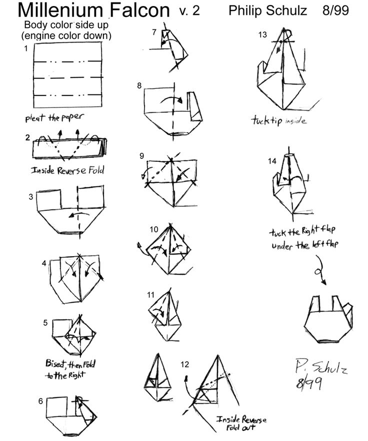 Star Wars origami...on happymagpie