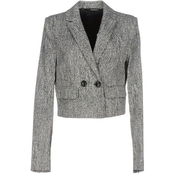 Annarita N. Blazer ($82) ❤ liked on Polyvore featuring outerwear, jackets, blazers, black, cotton double breasted blazer, multi pocket jacket, long sleeve jacket, double-breasted blazer and double breasted jacket