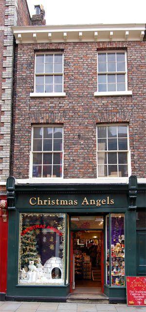 Christmas Angels shop in York, U.K.