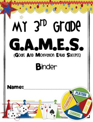 G.A.M.E.S. Binder: Data Binder, Kids Homework, Classroom Theme, Game Theme, School Ideas, Classroom Ideas, Homework Folder