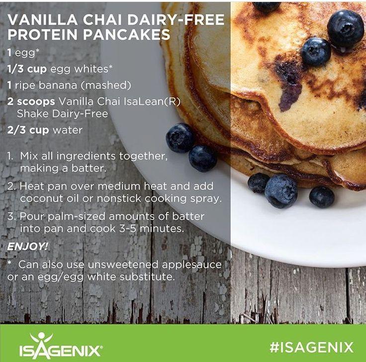 Vanilla Chai dairy free protein pancakes