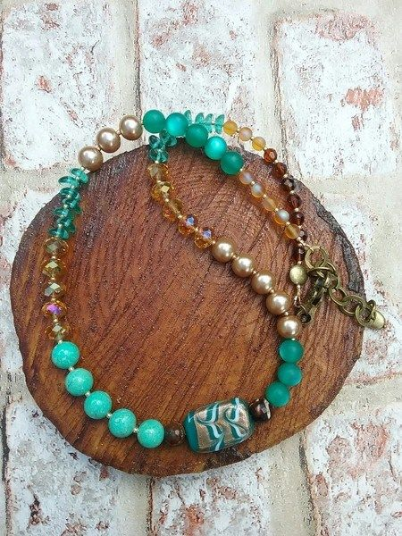 Buy Necklace and wrap around bracelet in one by @awlbix. Handmade by creative people crafting through DISABILITIES, CHRONIC ILLNESS or are CARERS