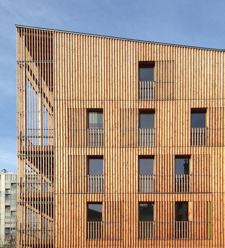 Gallery of Housing in Auvry Barbusse / Tectne - 2. Wood FacadeBuilding ...