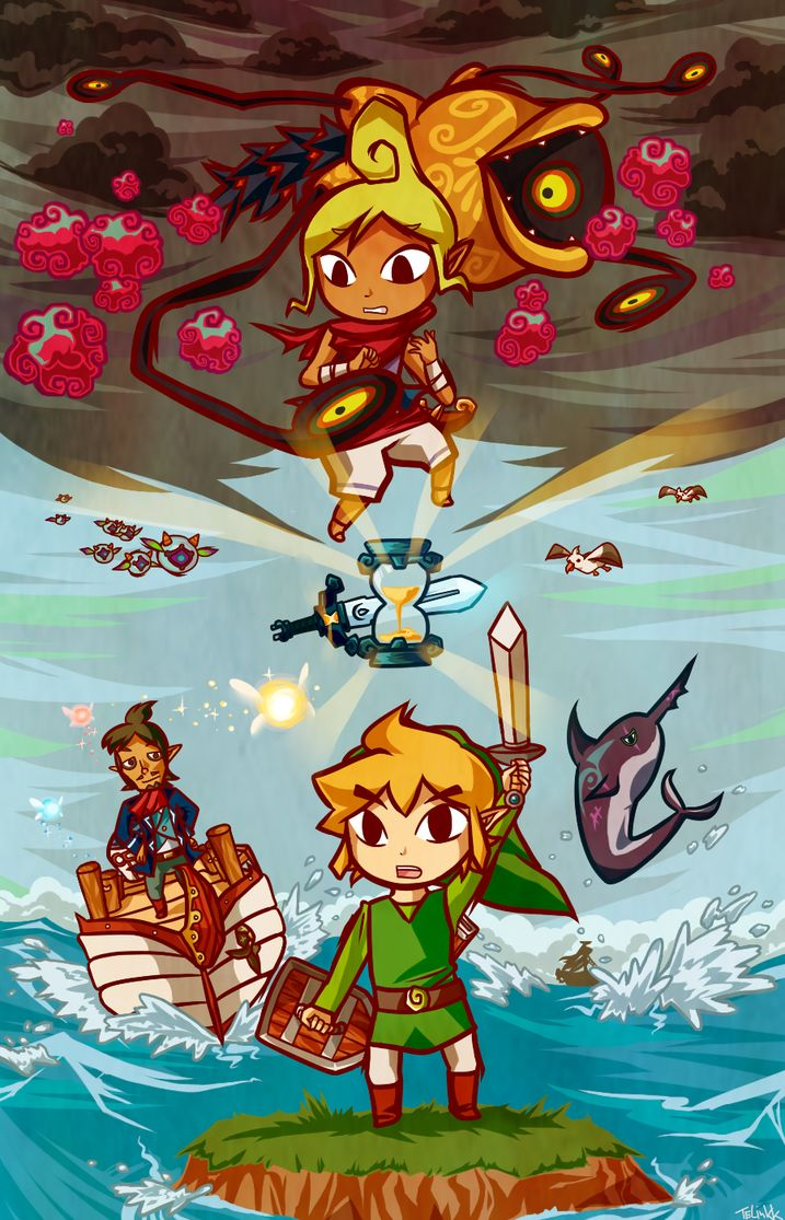 Zelda Phantom Hourglass by telinkk - #NDS