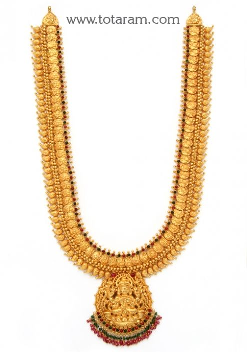 Check out the deal on 22K Gold 'Lakshmi Kasu' Long Necklace (Temple Jewellery) at Totaram Jewelers: Buy Indian Gold jewelry & 18K Diamond jewelry