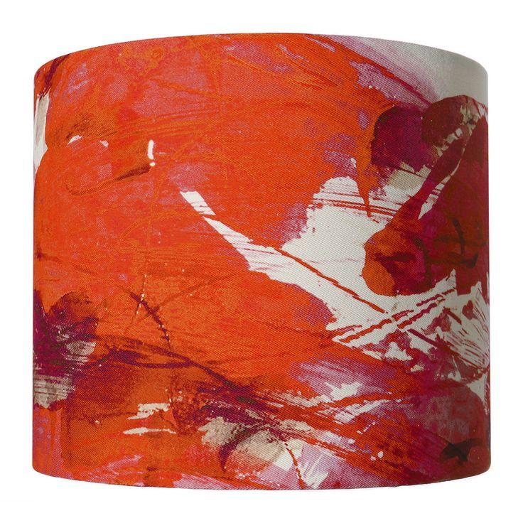 Discover the Anna Jacobs Sedum Detail in Orange Lamp Shade - Small at Amara