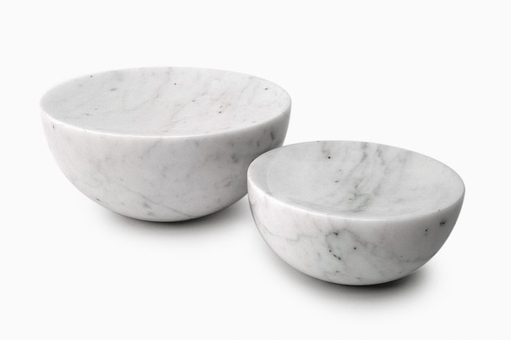 White Marble Meditation Stool by Michael Anastassiades