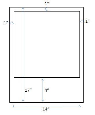 Anleitung (in inches, also umrechnen nicht vergessen) für die Polaroid-Umsetzung für Euer Photobooth