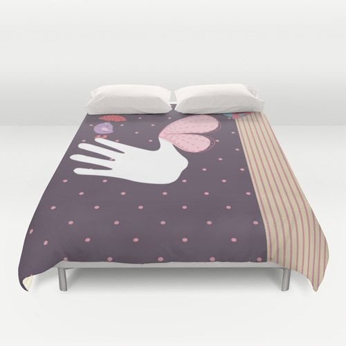 Scrap Bird Duvet Cover Personalized Color  Full Queen by xkbeth