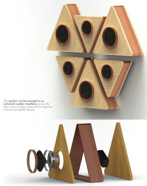 super simple. Sound equipment as wall sculpture...check out the simple construction too.
