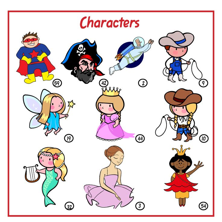 A popular mix of boys and girls characters.  The fairy and princess are my favourites.