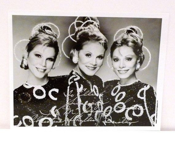 McGuire Sisters Band Autographed Photograph Vintage Signed