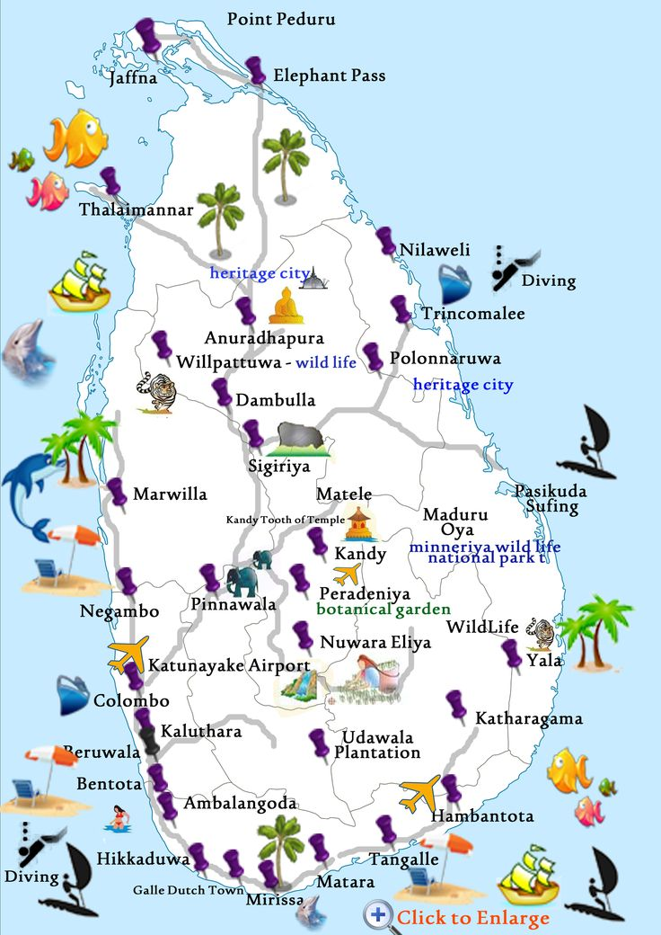 Sri Lanka Tourism Map 84203   ZBSOURCE   All about