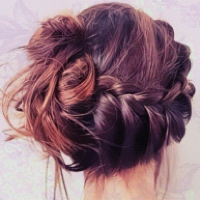 another take on the side french braid, for long hair