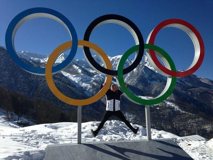 The Olympics rings in Sochi