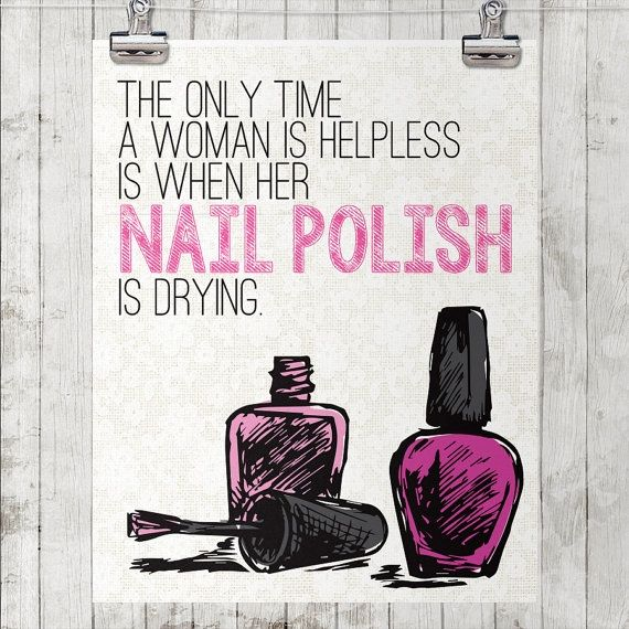Cool nail polish and nail salon decor from Etsy!                                                                                                                                                                                 More