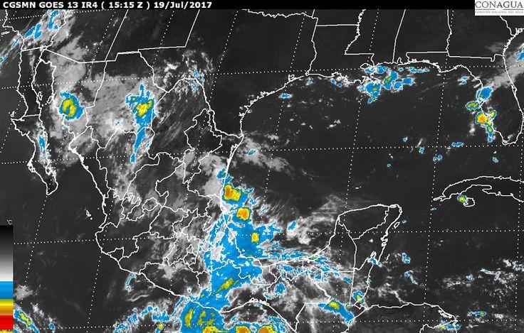 Hoy, se prevén tormentas muy fuertes en regiones de Sonora, Sinaloa, Chihuahua, Durango, Michoacán, Guerrero, Oaxaca, Veracruz, Puebla y Estado de México; y, tormentas locales fuertes en Tamaulipas, Tabasco, San ...