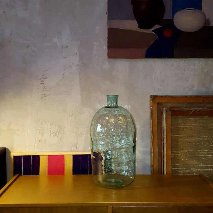 Large vintage flagon wine bottle home decor