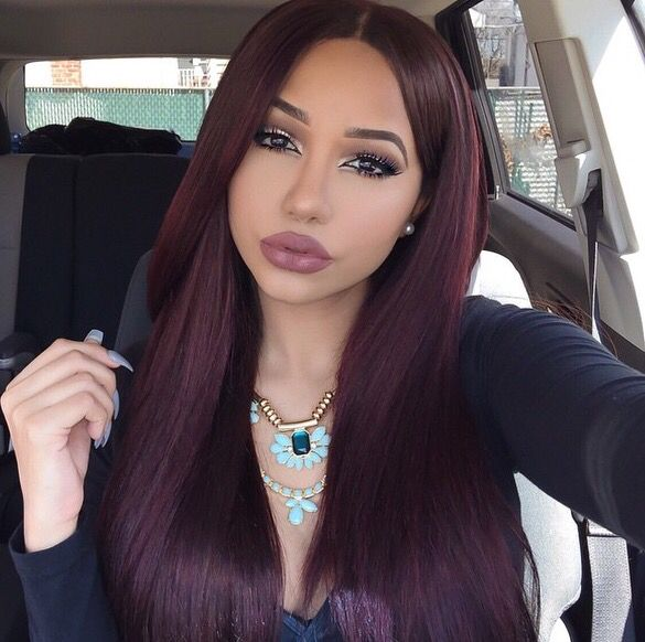 Garnier Dark Burgundy In 2019 Cherry Hair Hair Color