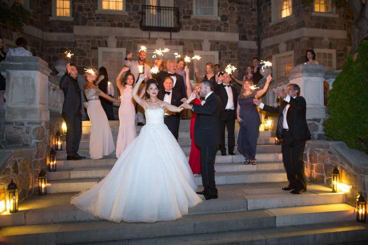 Graydon Hall Manor wedding reception sparklers!