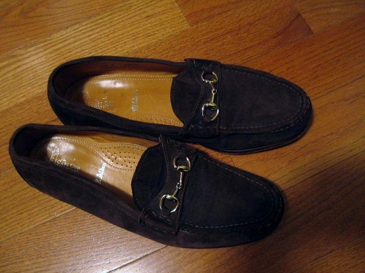Alden Shoes Brown Suede Cape Cod Collection Horse Bit Loafers Men's Size 10.5 D #Alden #LoafersSlipOns