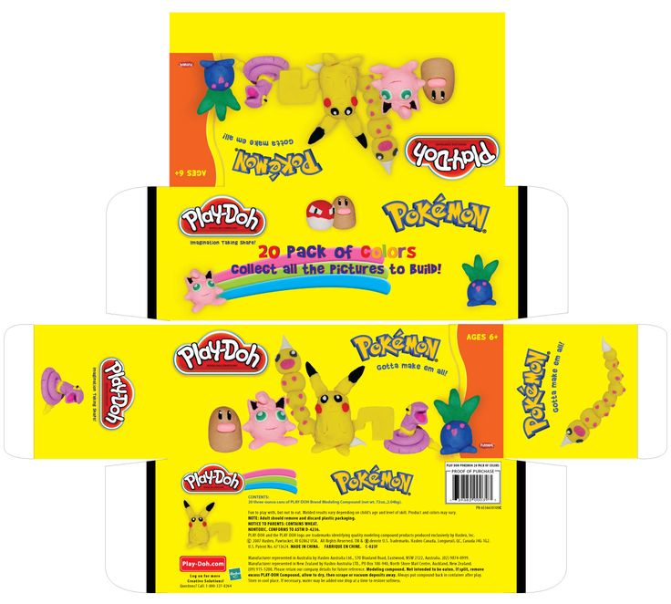 Pokemon playdoh