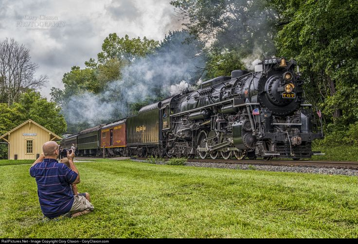 NKP 767 Nickel Plate Road Steam 2-8-4 at Cuyahoga Falls, Ohio by Cory Claxon…