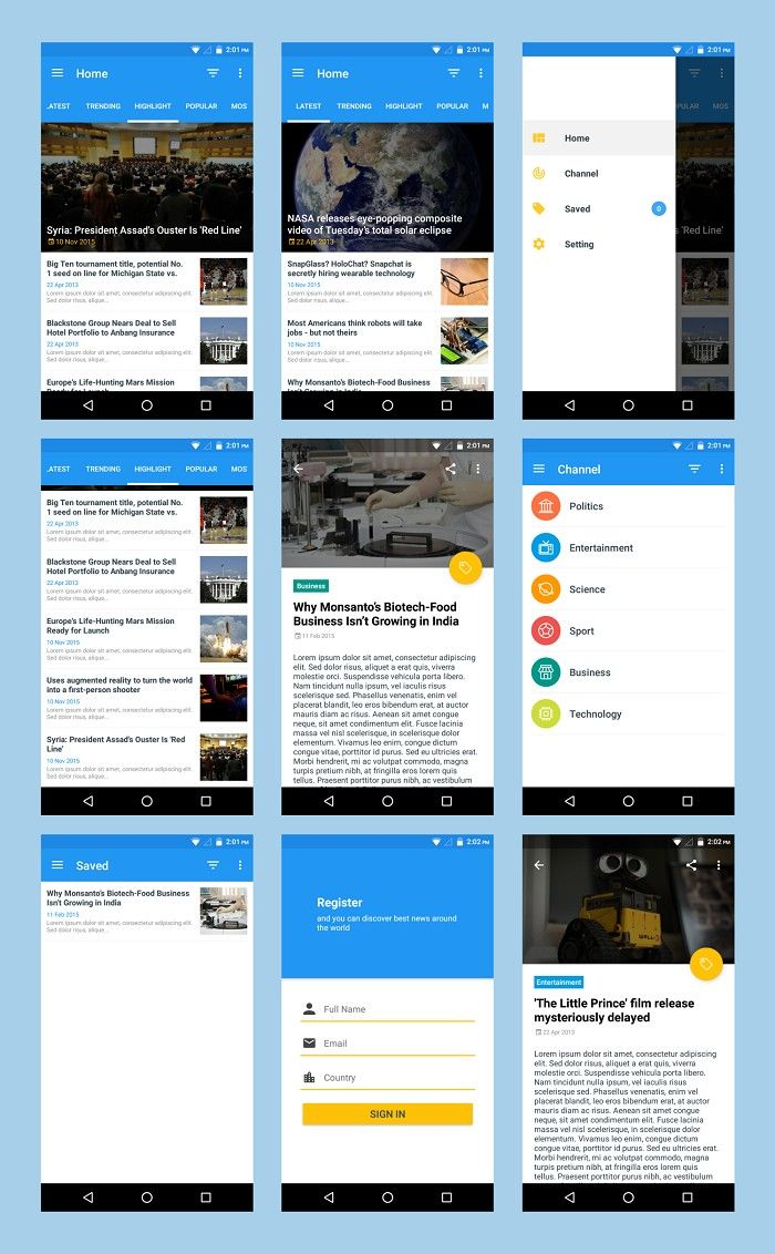 Prokit – android app ui design template kit nulled.