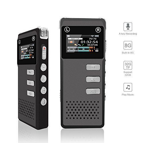 Voice Recorder For Lecture Interview 8GB Noise Reduction Professional Dictaphone #VoiceRecorderForLecture