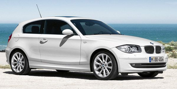 BMW 1 series. White.