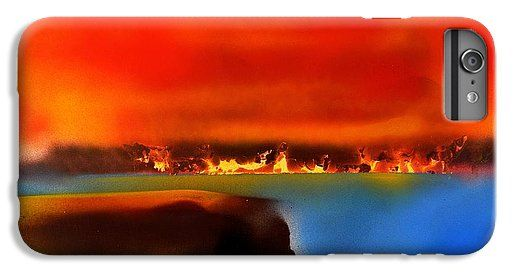 Printed with Fine Art spray painting image Burning Shore by Nandor Molnar (When you visit the Shop, change the orientation, background color and image size as you wish)