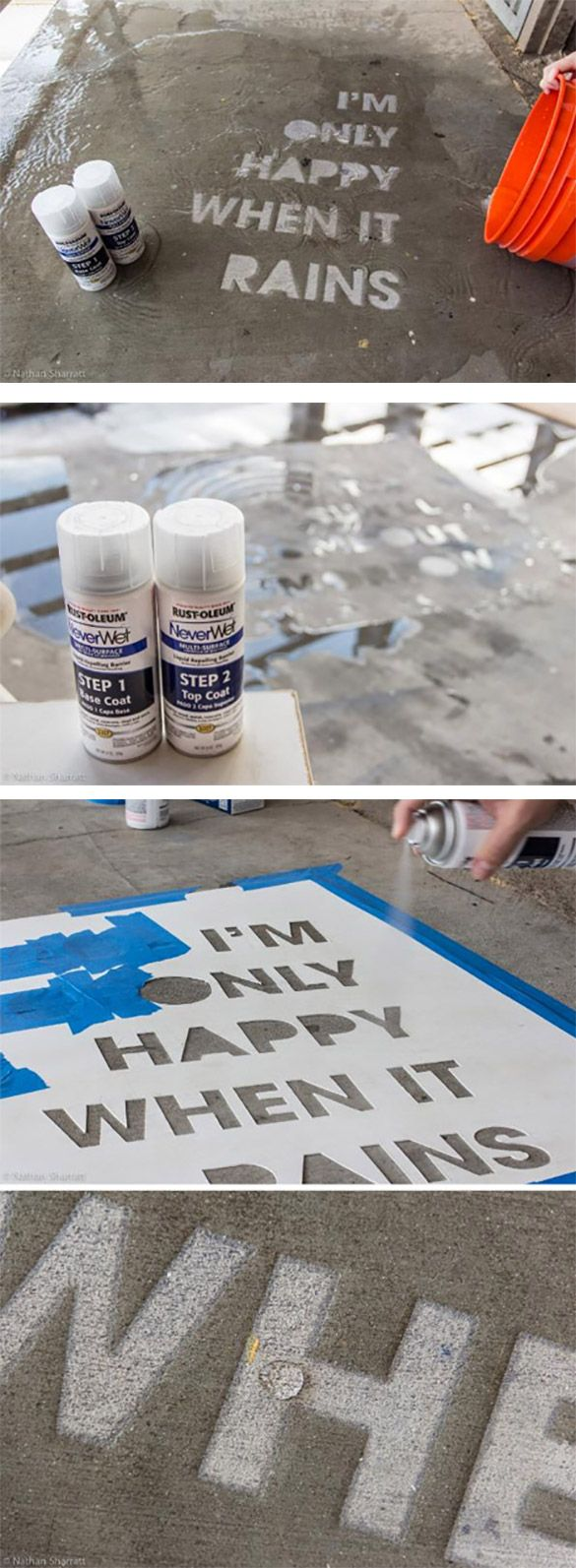 rain Le graffiti hygrophobe qui napparaît que quand il pleut !