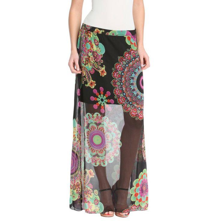jupe longue voile imprim multicolore desigual we love desigual pinterest fashion. Black Bedroom Furniture Sets. Home Design Ideas