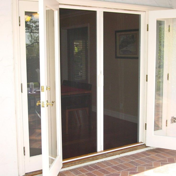 Best 25 andersen screen doors ideas on pinterest - Exterior french doors with built in screens ...