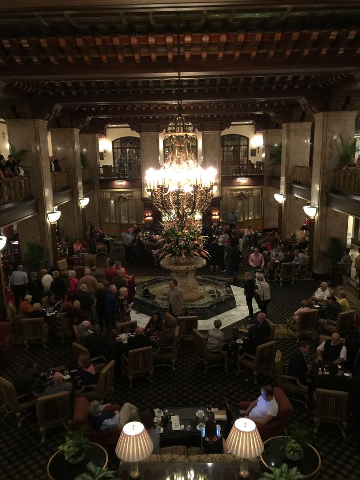 Peabody Hotel in Memphis, Tennessee waiting for the ducks