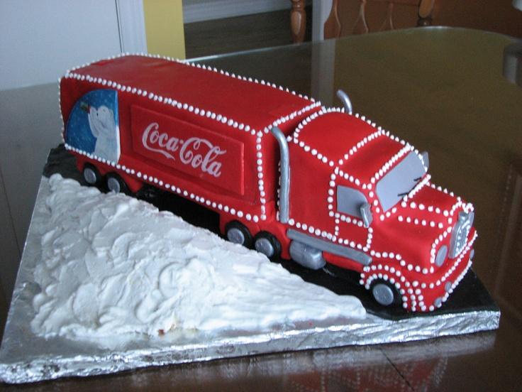 Cake G 226 Teau Coca Cola Truck Camion Noel Christmas Cake
