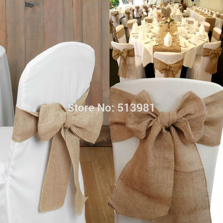 The Best Burlap Chair Sashes Ideas On Pinterest Wedding - Wedding chair ties