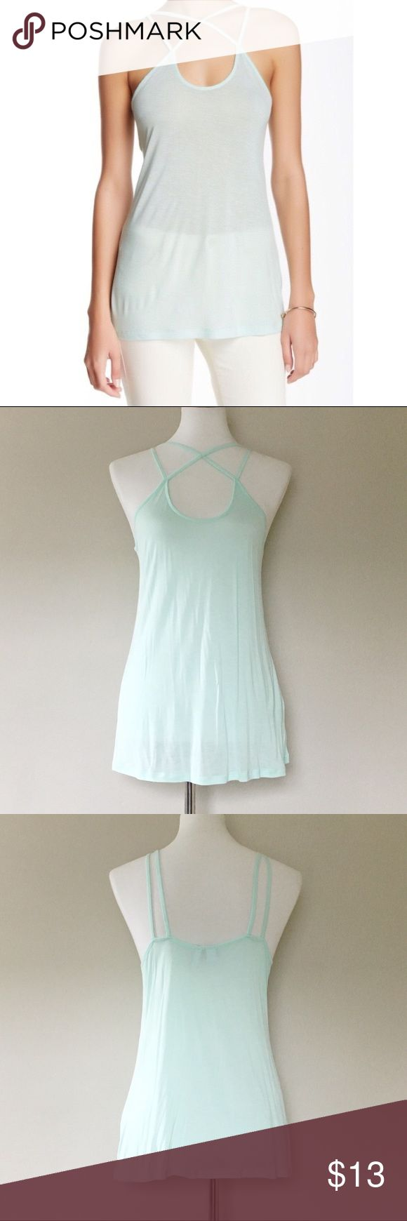 NWOT Mint Free Press Strappy Tank NWOT Mint Free Press Strappy Tank -Nordstrom brand Free Press -Pretty mint color, (closer to my pictures as opposed to stock photo) -strappy cage front fit -very soft and comfortable -New without tags! Nordstrom Tops Tank Tops