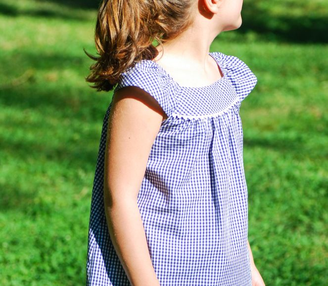 S is for Sewing | Townmouse patterns | Eloise Gathered Top | Gingham