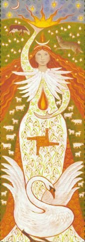 ☆ Brigid Maiden Fire Goddess Banner :¦: By Wendy Andrew ☆